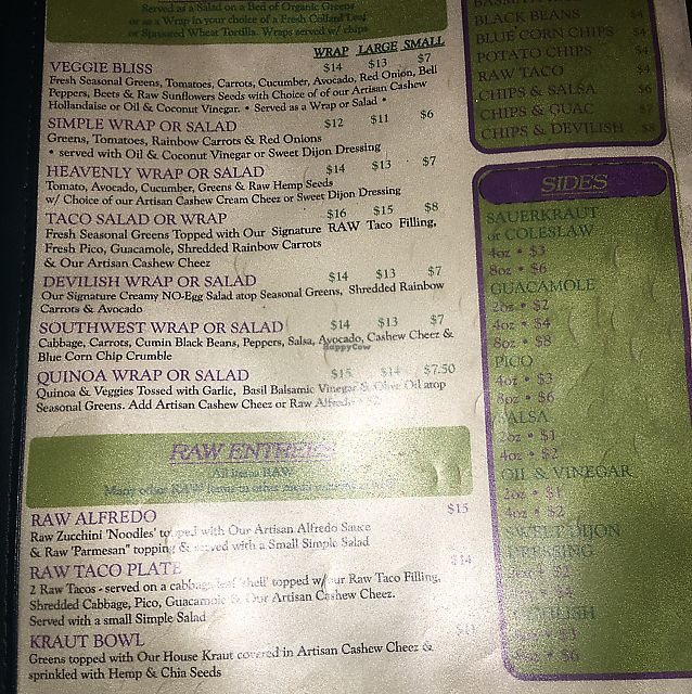 """Photo of Simple Bliss Cafe  by <a href=""""/members/profile/lkeeler"""">lkeeler</a> <br/>menu page 3 <br/> September 29, 2017  - <a href='/contact/abuse/image/33520/309889'>Report</a>"""