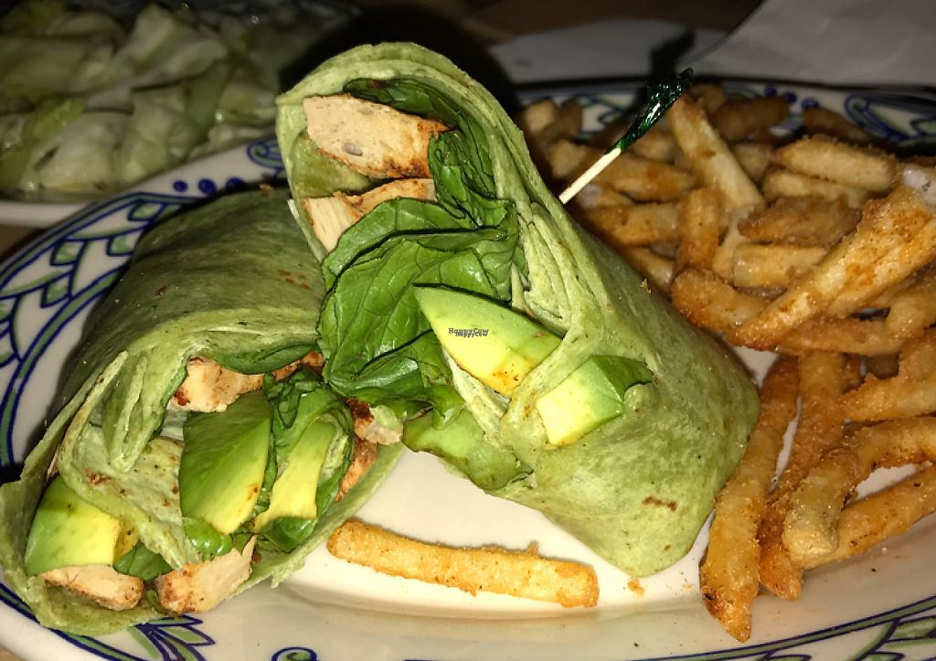 "Photo of Rula Bula  by <a href=""/members/profile/Tigra220"">Tigra220</a> <br/>San Patricio Wrap: Beyond Meat ""Chicken,"" spinach, avocado, vegan mayo, spinach tortilla  <br/> March 17, 2017  - <a href='/contact/abuse/image/33521/237258'>Report</a>"