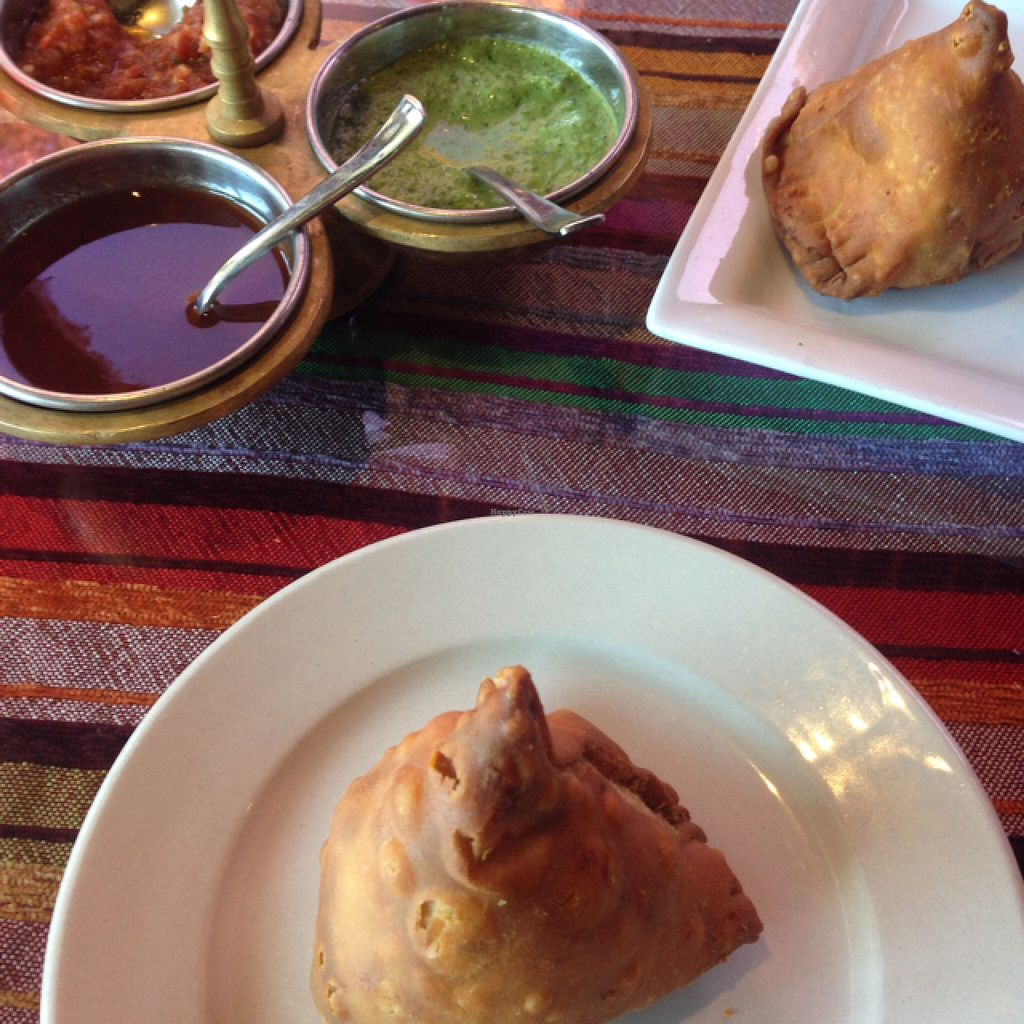 "Photo of Saffron Indian Cuisine and Bar  by <a href=""/members/profile/Kyliens"">Kyliens</a> <br/>Samosas <br/> June 20, 2016  - <a href='/contact/abuse/image/33522/154923'>Report</a>"