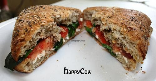 """Photo of The Pony Expresso  by <a href=""""/members/profile/PonyExpresso"""">PonyExpresso</a> <br/>Grilled Caprese sandwich - Mozzarella, tomatoes & fresh basil drizzled with balsamic vinaigrette on a multi-grain ciabatta roll <br/> April 5, 2013  - <a href='/contact/abuse/image/33539/46559'>Report</a>"""