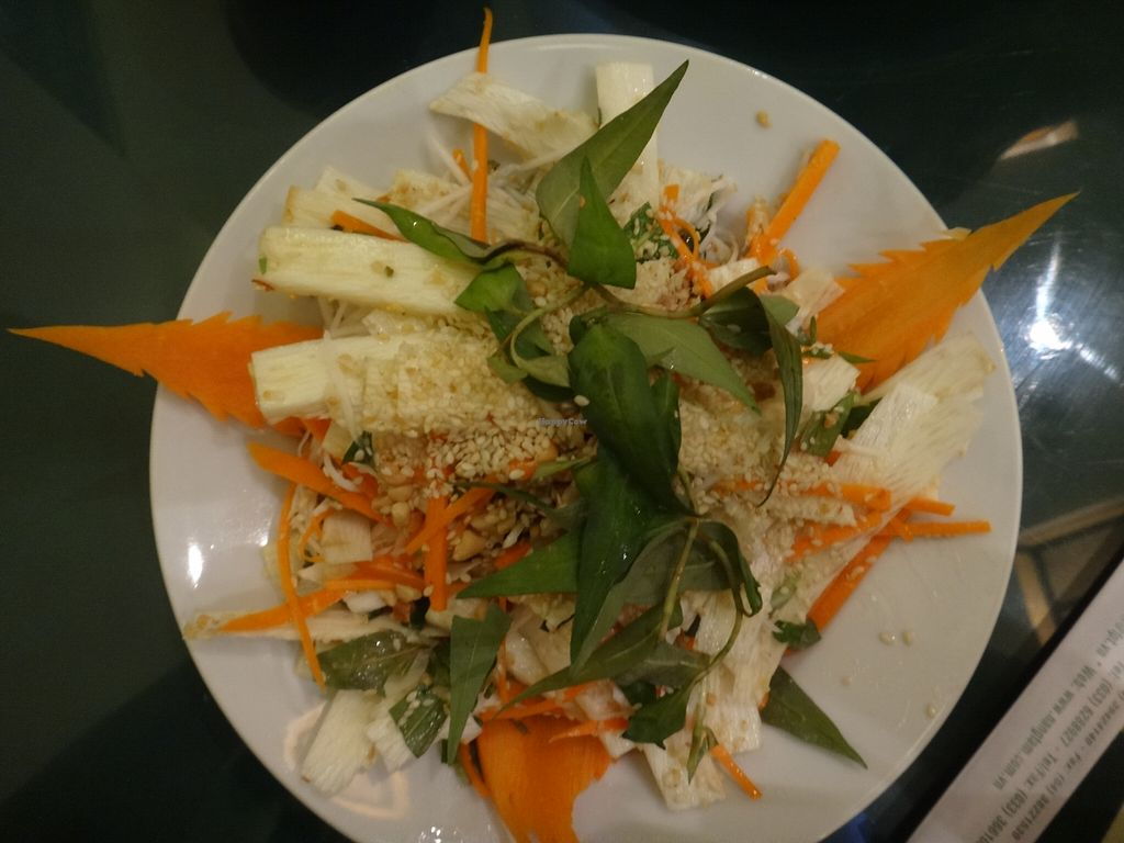"""Photo of Nang Tam  by <a href=""""/members/profile/GioiaMilan"""">GioiaMilan</a> <br/>Coconut Salad. The best salad of my life! TRY THIS!! <br/> October 12, 2015  - <a href='/contact/abuse/image/3353/121077'>Report</a>"""