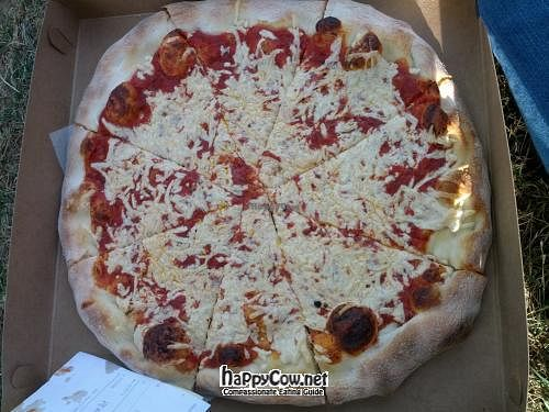 """Photo of Reel Pizza Cinerama  by <a href=""""/members/profile/cwantumleep"""">cwantumleep</a> <br/>11inch vegan cheese pizza! <br/> July 30, 2012  - <a href='/contact/abuse/image/33540/35277'>Report</a>"""