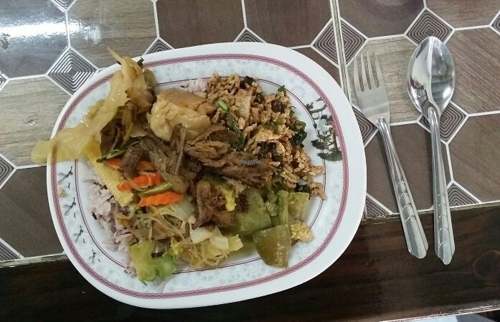 """Photo of Nuson  by <a href=""""/members/profile/Mike%20Munsie"""">Mike Munsie</a> <br/>sampler plate 4 dishes plus rice <br/> March 20, 2017  - <a href='/contact/abuse/image/33557/238666'>Report</a>"""