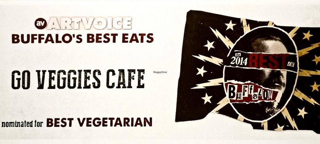 "Photo of Go Veggies Cafe  by <a href=""/members/profile/Lauren%20W."">Lauren W.</a> <br/>Go Veggies Nominated Best Vegetarian Food by Artvioce <br/> June 10, 2014  - <a href='/contact/abuse/image/33578/209798'>Report</a>"