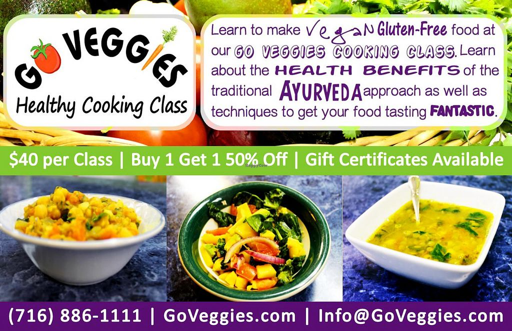 "Photo of Go Veggies Cafe  by <a href=""/members/profile/Lauren%20W."">Lauren W.</a> <br/>Go Veggies Healthy Cooking Class (Vegan & Gluten-Free) <br/> June 10, 2014  - <a href='/contact/abuse/image/33578/71753'>Report</a>"