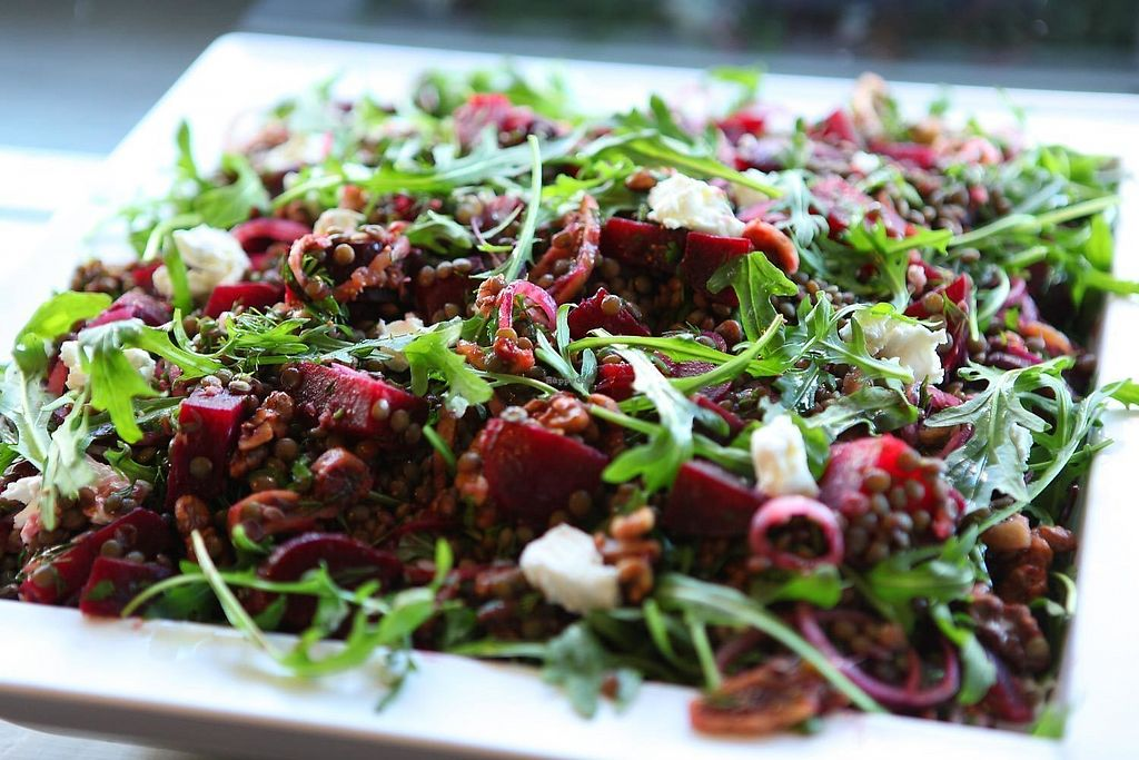 "Photo of Earth Food Store Cafe  by <a href=""/members/profile/earthfoodstore"">earthfoodstore</a> <br/>Beetroot, Goat's Cheese, Walnut & Rocket Salad <br/> September 15, 2017  - <a href='/contact/abuse/image/33606/304571'>Report</a>"