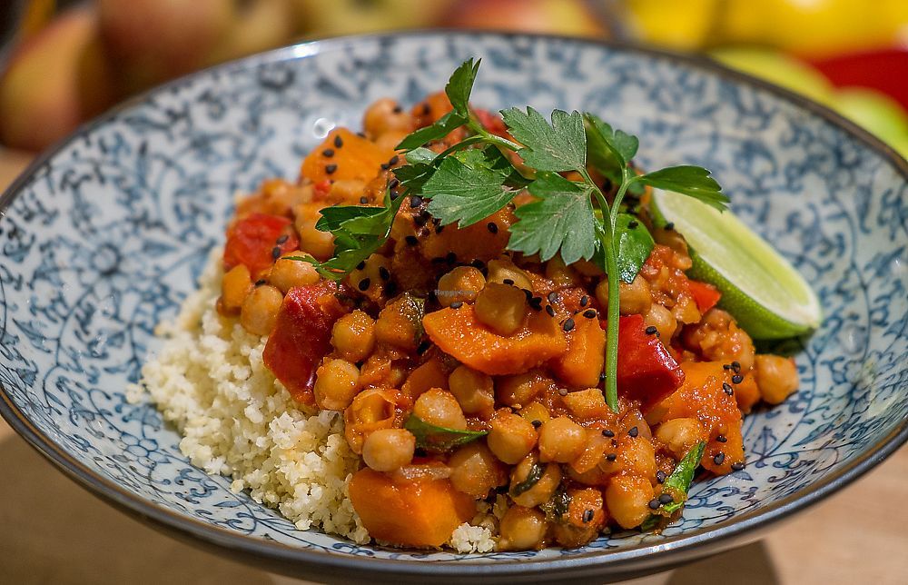 "Photo of Earth Food Store Cafe  by <a href=""/members/profile/earthfoodstore"">earthfoodstore</a> <br/>Vegan Spanish Chickpea & Harissa Stew  <br/> September 15, 2017  - <a href='/contact/abuse/image/33606/304572'>Report</a>"