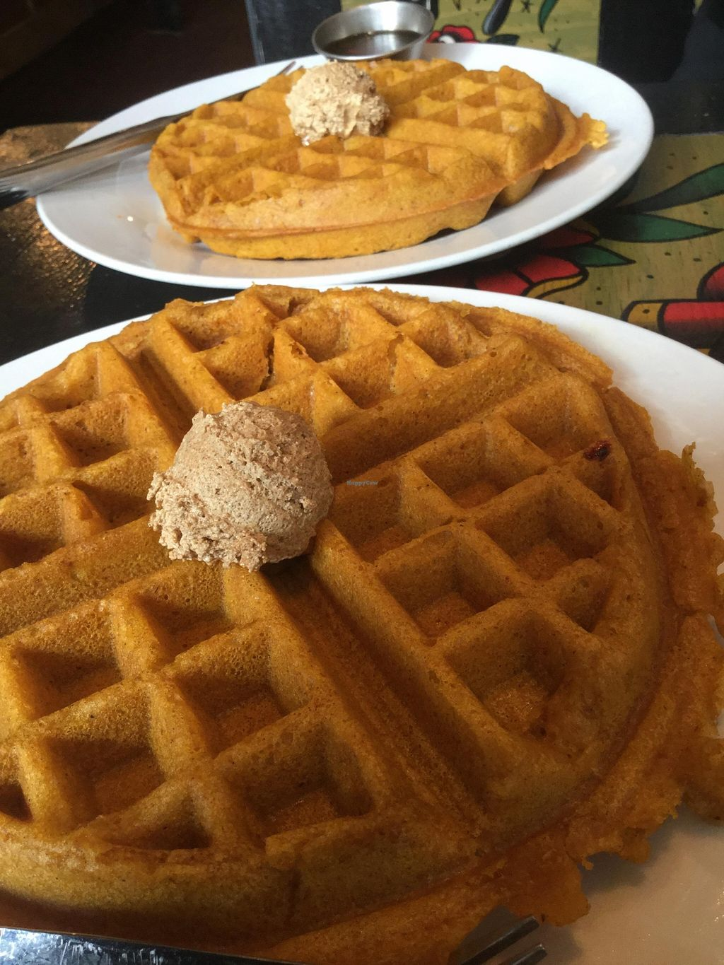 """Photo of Boots Bakery and Lounge  by <a href=""""/members/profile/J%20and%20J"""">J and J</a> <br/>Famous pumpkin waffles! Don't miss them! <br/> January 30, 2016  - <a href='/contact/abuse/image/33634/134237'>Report</a>"""