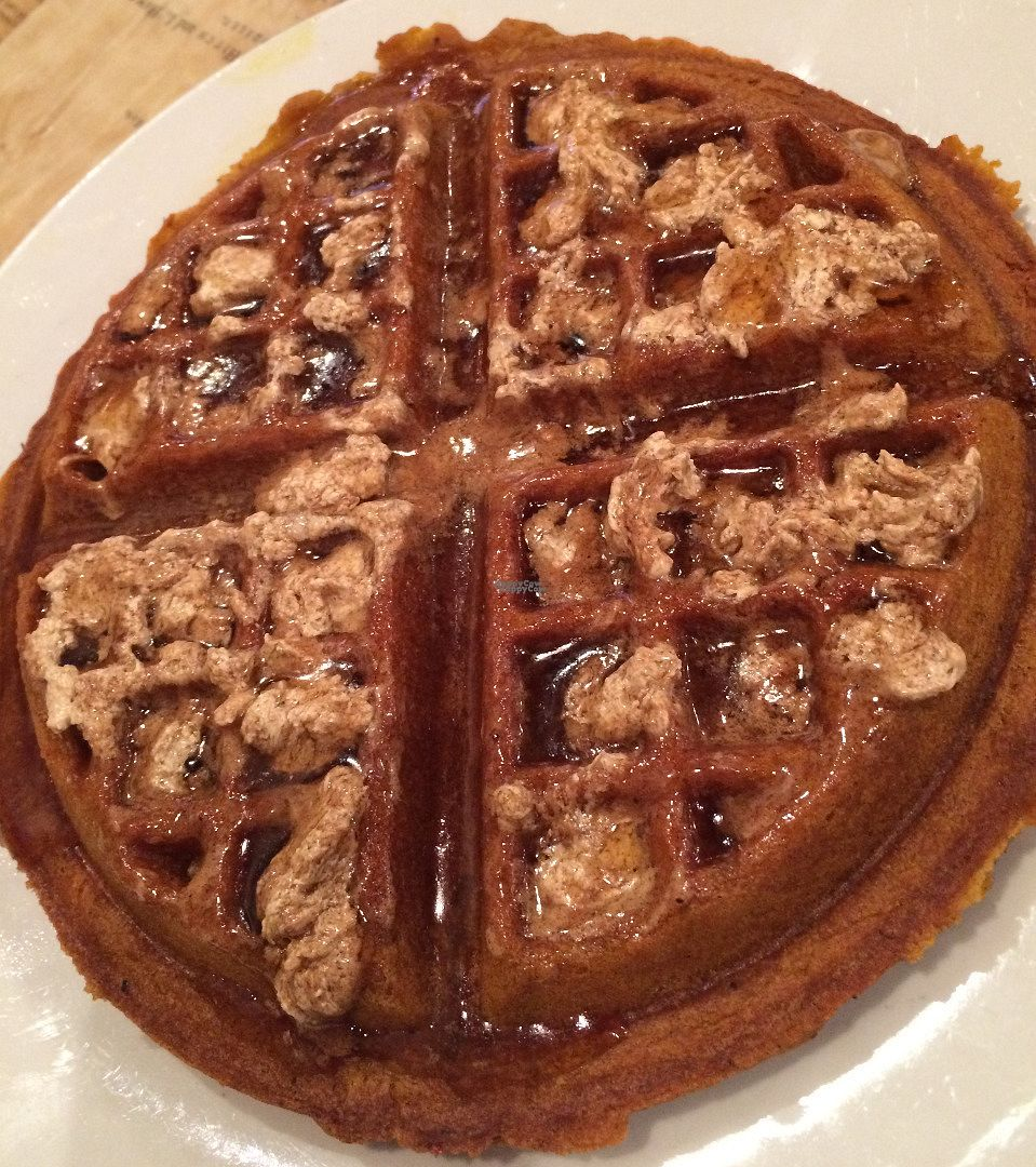 """Photo of Boots Bakery and Lounge  by <a href=""""/members/profile/veganhippiefreek"""">veganhippiefreek</a> <br/>chai butter & maple syrup, heavenly <br/> October 27, 2016  - <a href='/contact/abuse/image/33634/184616'>Report</a>"""