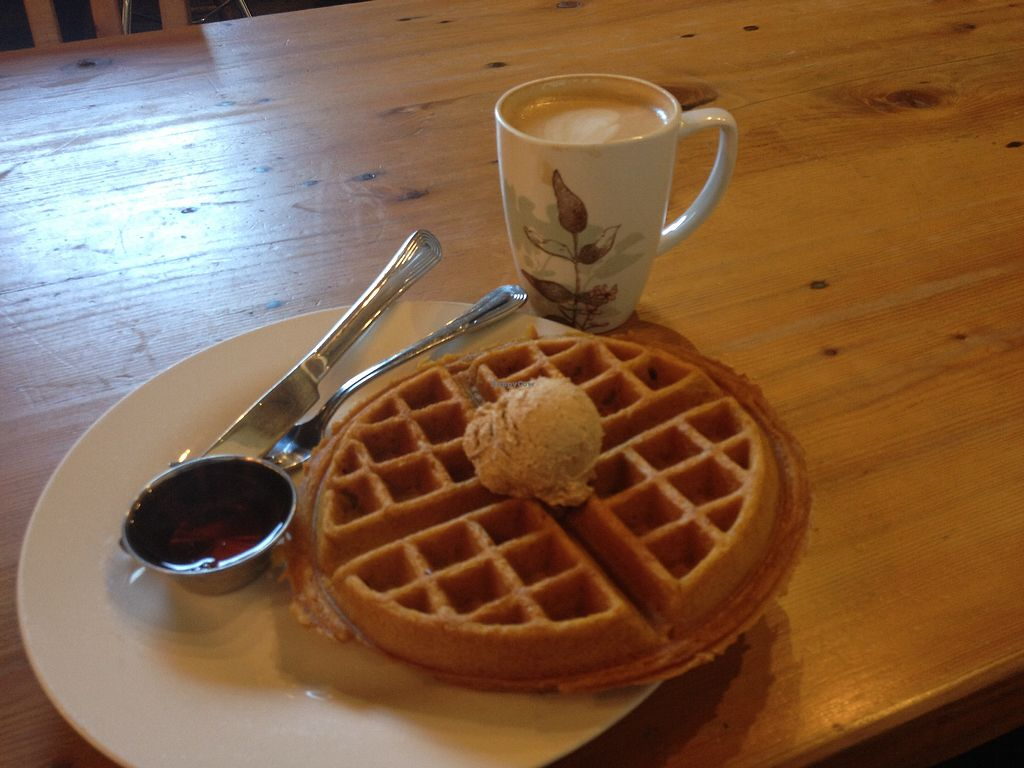 """Photo of Boots Bakery and Lounge  by <a href=""""/members/profile/AutumnTierra"""">AutumnTierra</a> <br/>Pumpkin waffle with spiced butter <br/> February 21, 2018  - <a href='/contact/abuse/image/33634/362097'>Report</a>"""