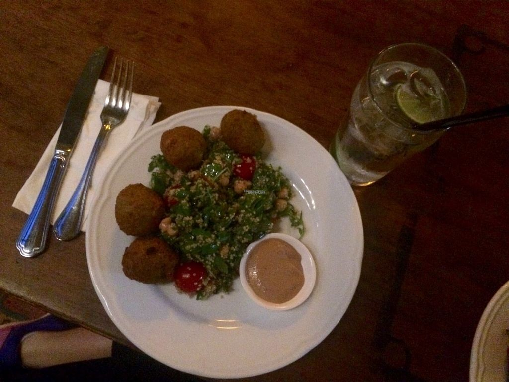 "Photo of F-hoone  by <a href=""/members/profile/LiaTraballero"">LiaTraballero</a> <br/>Pumpkin and chickpeas falafel, salad with quinta, cherry tomatoes and chickpeas, cashew cream <br/> August 12, 2016  - <a href='/contact/abuse/image/33686/167970'>Report</a>"
