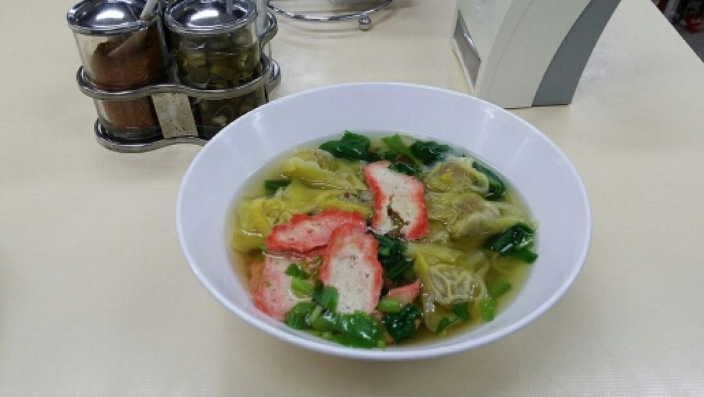 """Photo of Sutunthip Vegetarian Food  by <a href=""""/members/profile/yehadut"""">yehadut</a> <br/>Wonton soup <br/> October 10, 2015  - <a href='/contact/abuse/image/33707/120936'>Report</a>"""