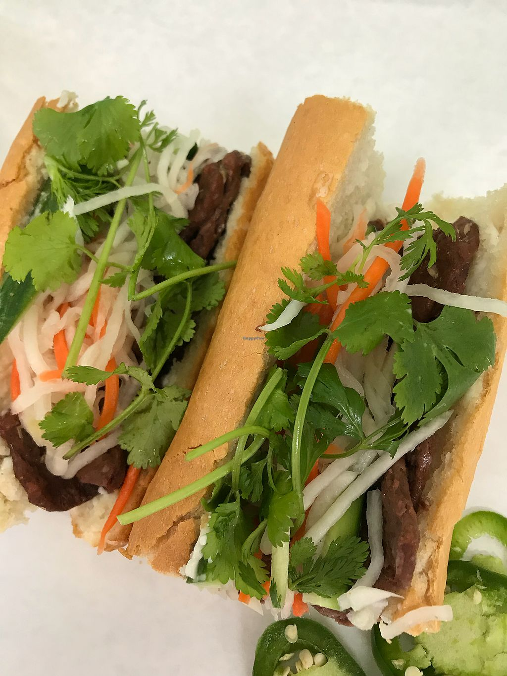 "Photo of Thien Dang Vegetarian  by <a href=""/members/profile/sjberrest"">sjberrest</a> <br/>Vegan Banh Mi ""beef"" <br/> April 22, 2018  - <a href='/contact/abuse/image/33714/389595'>Report</a>"