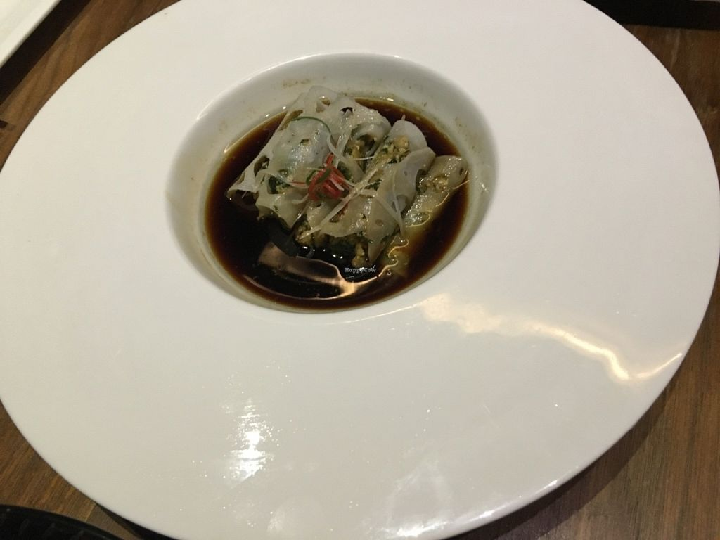 """Photo of WUJIE - Xujiahui Park  by <a href=""""/members/profile/SP"""">SP</a> <br/>lotus root used as the wrap for a roll, very delicious! <br/> March 12, 2016  - <a href='/contact/abuse/image/33726/139783'>Report</a>"""