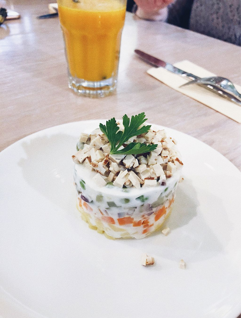 """Photo of Fresh - Bolshaya Dmitrovka  by <a href=""""/members/profile/Evgenia"""">Evgenia</a> <br/>Russia traditional salad - vegan version  <br/> December 30, 2017  - <a href='/contact/abuse/image/33756/340919'>Report</a>"""