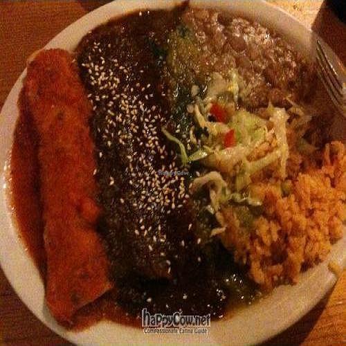 "Photo of Ranchos Cocina - North Park  by <a href=""/members/profile/keesimps"">keesimps</a> <br/>Veggie Trio Enchiladas Combination Plate: 1 Blue Corn Avacado, 1 Entrijolada w/mole & 1 Tofu <br/> June 20, 2011  - <a href='/contact/abuse/image/3375/9342'>Report</a>"