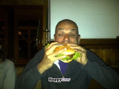 """Photo of Hirschbachstueberl  by <a href=""""/members/profile/stegh"""">stegh</a> <br/>vegan burger !  super sized ! <br/> September 4, 2013  - <a href='/contact/abuse/image/33767/54346'>Report</a>"""