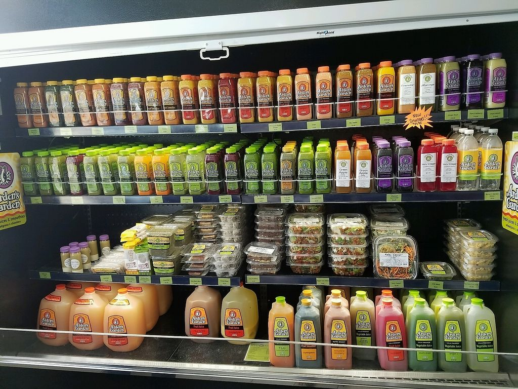 """Photo of Arden's Garden - East Point  by <a href=""""/members/profile/Dark%26Stormy"""">Dark&Stormy</a> <br/>some of the pre made juices, raw vegan salads and snacks! <br/> November 2, 2017  - <a href='/contact/abuse/image/33775/321154'>Report</a>"""