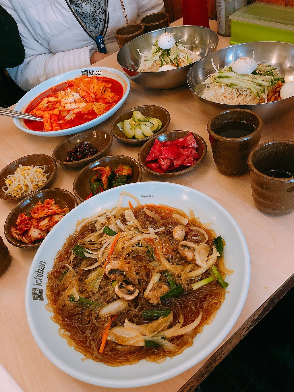 "Photo of Imonay Korean Restaurant  by <a href=""/members/profile/janitajasmin"">janitajasmin</a> <br/>Japchae and delicious side dishes (other dishes in this picture are not vegan) <br/> March 13, 2018  - <a href='/contact/abuse/image/33782/370129'>Report</a>"