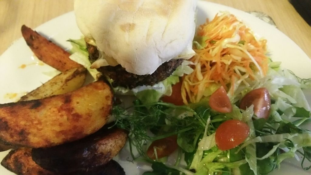 """Photo of Global Tribe Cafe  by <a href=""""/members/profile/KatieBatty"""">KatieBatty</a> <br/>American burger <br/> February 21, 2017  - <a href='/contact/abuse/image/33793/228902'>Report</a>"""