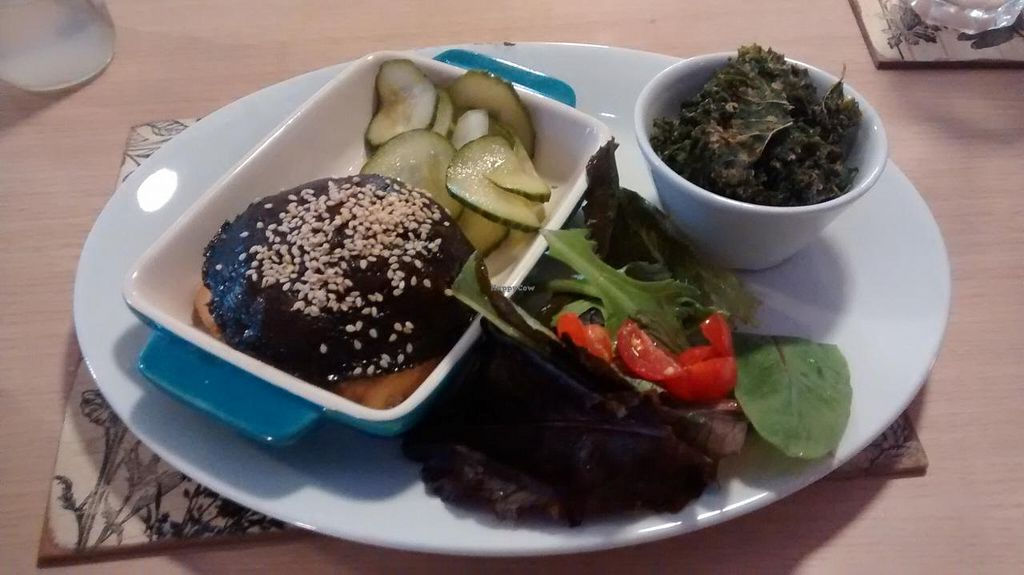 """Photo of Global Tribe Cafe  by <a href=""""/members/profile/JonJon"""">JonJon</a> <br/>Raw portobello burger <br/> September 22, 2014  - <a href='/contact/abuse/image/33793/80714'>Report</a>"""