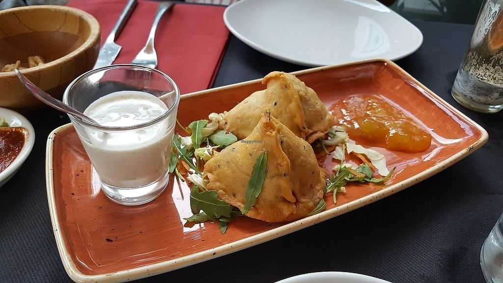 """Photo of Buddhabar  by <a href=""""/members/profile/HappyDe"""">HappyDe</a> <br/>vegetable samosas <br/> June 15, 2017  - <a href='/contact/abuse/image/33801/269507'>Report</a>"""