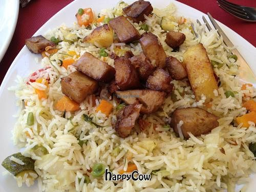 """Photo of Buddhabar  by <a href=""""/members/profile/Tigra220"""">Tigra220</a> <br/>My mixture of the vegetable rice and the seitan & potatoes dishes <br/> August 12, 2012  - <a href='/contact/abuse/image/33801/35975'>Report</a>"""
