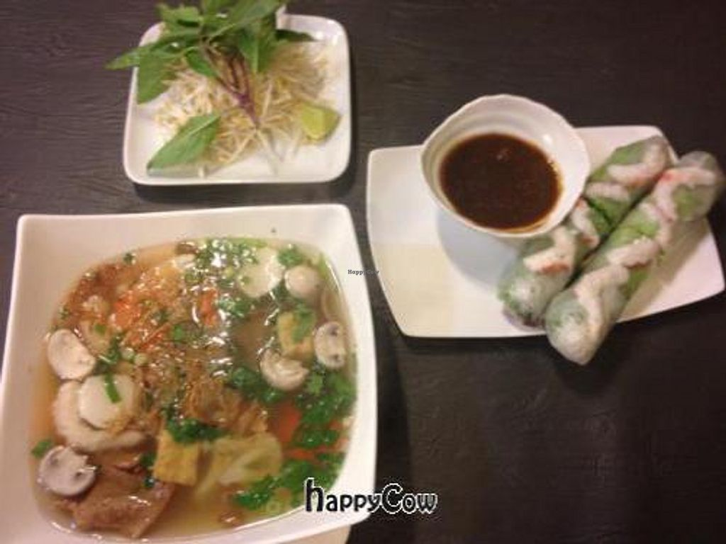 """Photo of CLOSED: Three Jewels  by <a href=""""/members/profile/JoeVeg"""">JoeVeg</a> <br/>Pho & Salad Rolls <br/> October 14, 2012  - <a href='/contact/abuse/image/33806/39110'>Report</a>"""