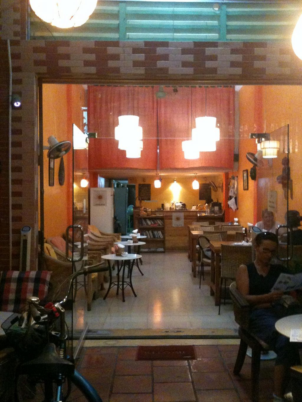 """Photo of Cafe Soleil  by <a href=""""/members/profile/heloisepe"""">heloisepe</a> <br/>Inside the coffee, nice and cosy decoration, some books <br/> July 27, 2015  - <a href='/contact/abuse/image/33811/111153'>Report</a>"""