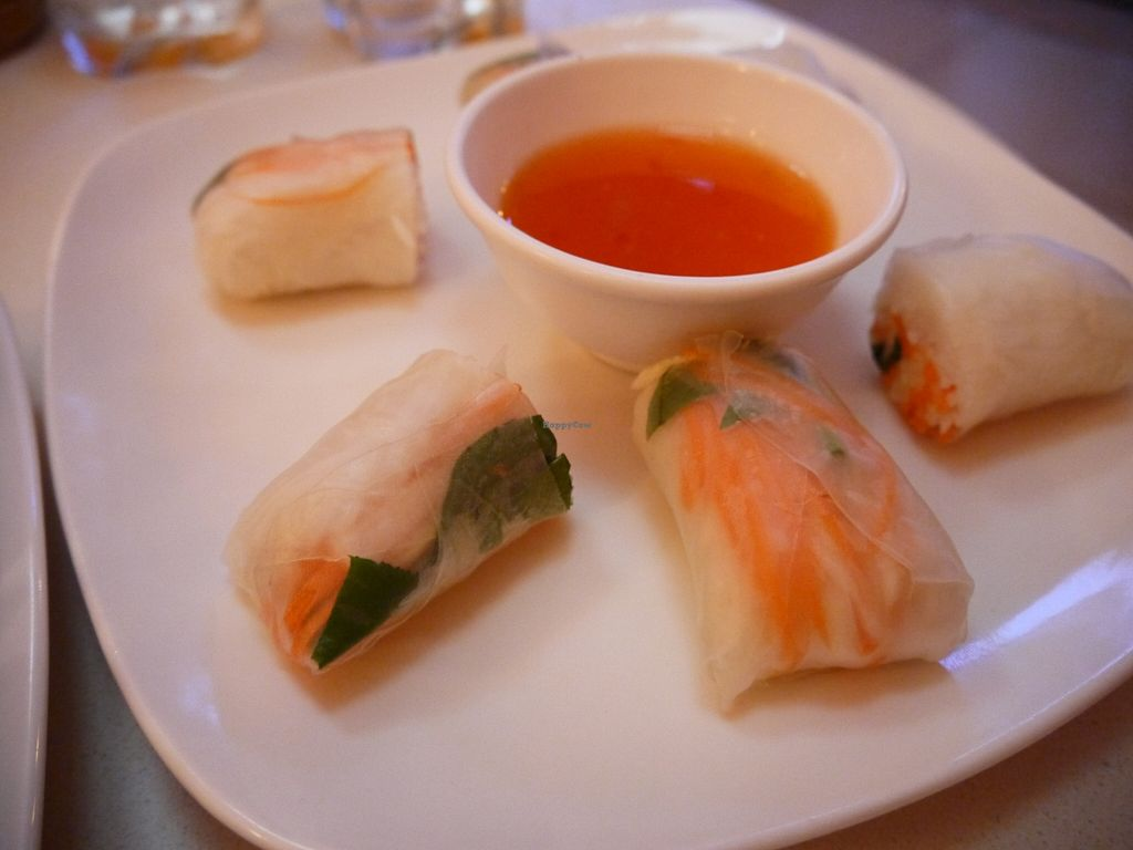 """Photo of Cafe Soleil  by <a href=""""/members/profile/phnompenhveggie"""">phnompenhveggie</a> <br/>Fresh spring rolls <br/> February 5, 2016  - <a href='/contact/abuse/image/33811/135067'>Report</a>"""