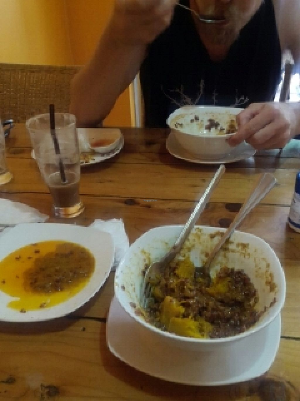 """Photo of Cafe Soleil  by <a href=""""/members/profile/Fairbridge"""">Fairbridge</a> <br/>pumpkin curry with a side of grease <br/> June 21, 2016  - <a href='/contact/abuse/image/33811/187246'>Report</a>"""