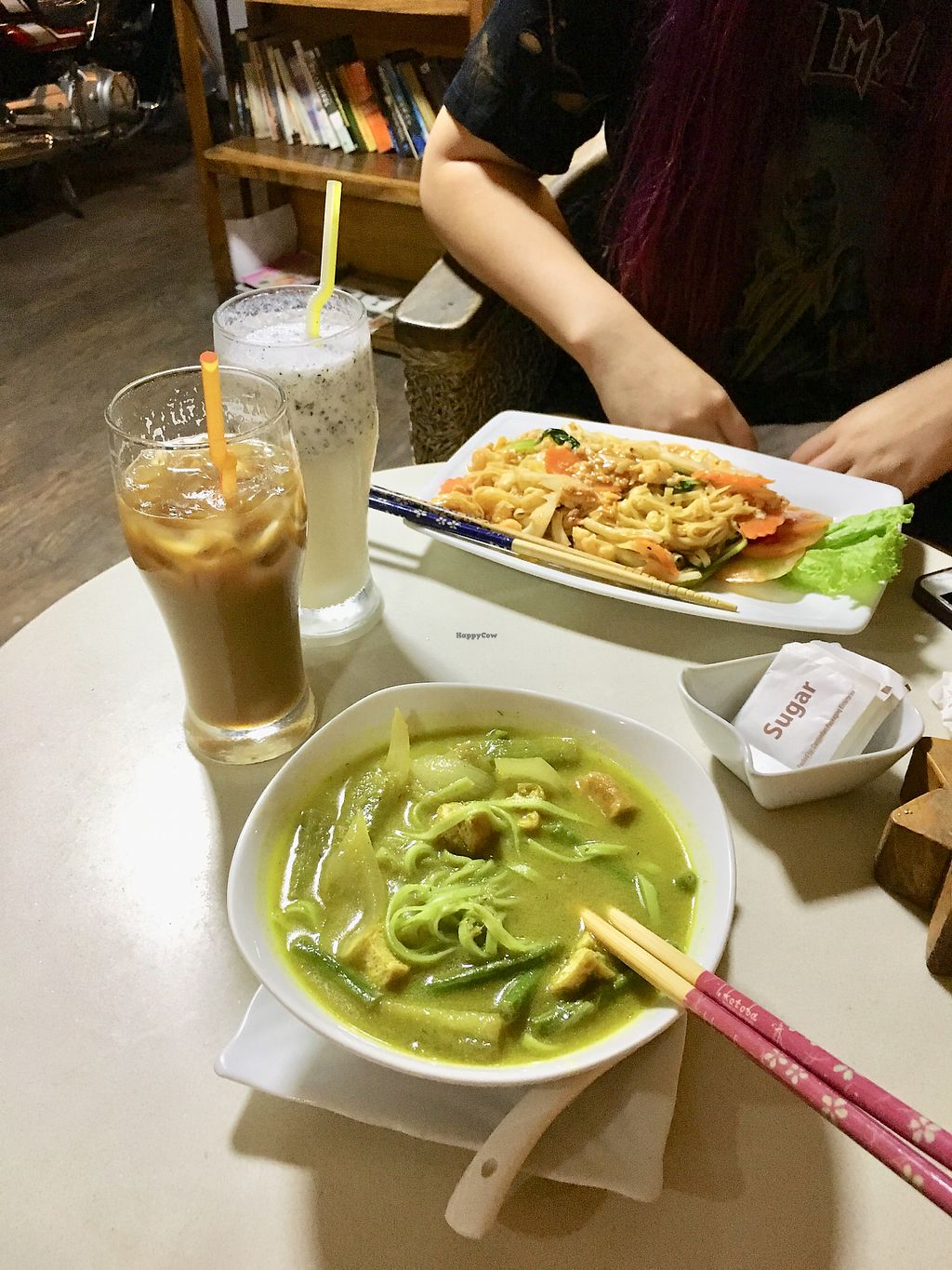 """Photo of Cafe Soleil  by <a href=""""/members/profile/CamilaSilvaL"""">CamilaSilvaL</a> <br/>Curry with noodles and vegetarian noodles w/eggs and veggies  <br/> January 31, 2018  - <a href='/contact/abuse/image/33811/353248'>Report</a>"""