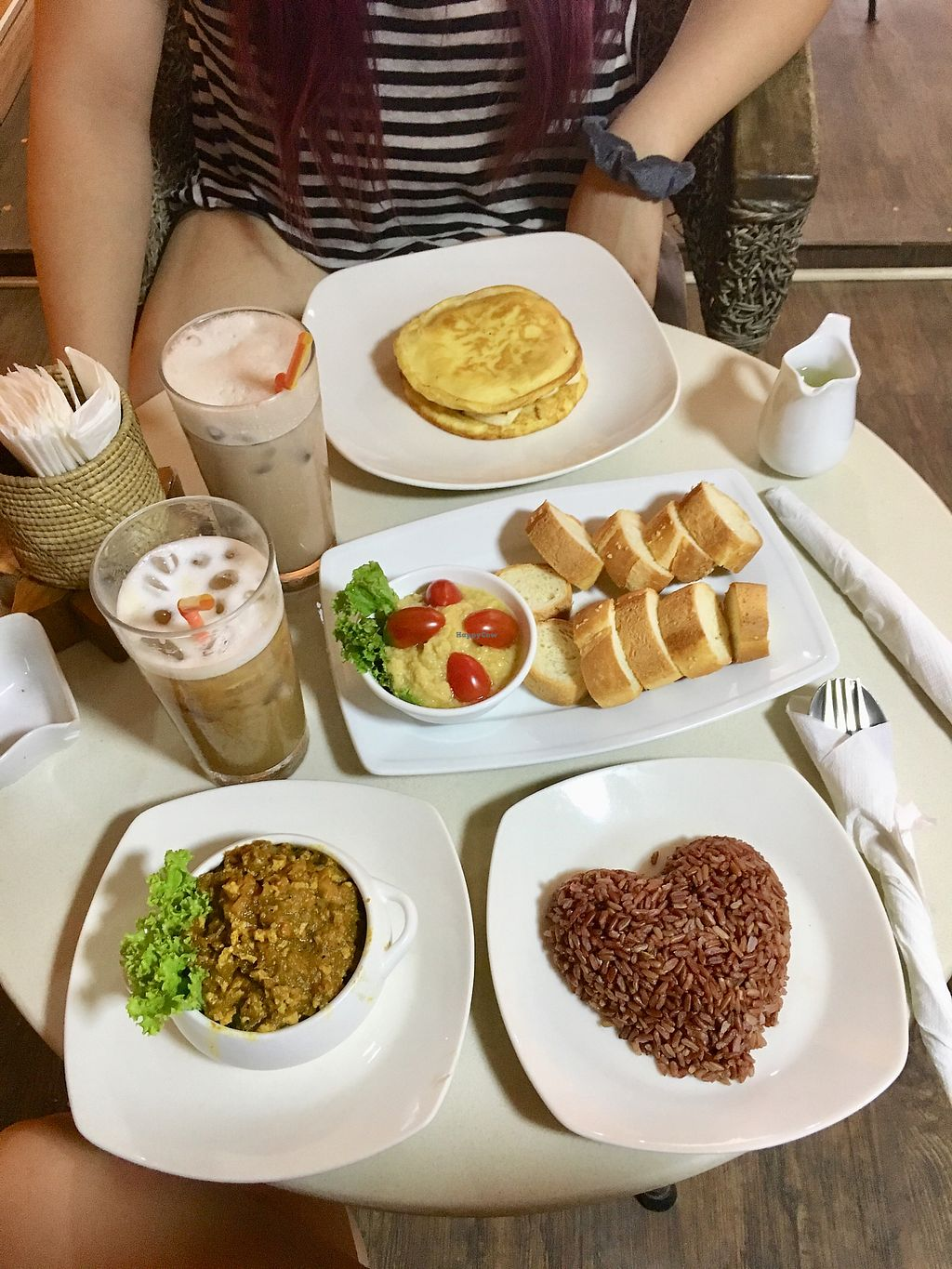 """Photo of Cafe Soleil  by <a href=""""/members/profile/CamilaSilvaL"""">CamilaSilvaL</a> <br/>Amok, hummus and pancakes  <br/> February 1, 2018  - <a href='/contact/abuse/image/33811/353543'>Report</a>"""