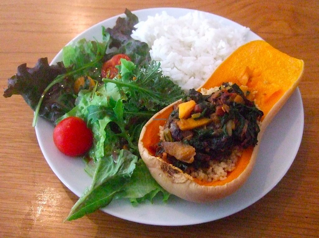 "Photo of Quintal Bioshop  by <a href=""/members/profile/hainish"">hainish</a> <br/>Quintal Stuffed Squash (part of their seasonal rotating menu) <br/> October 21, 2015  - <a href='/contact/abuse/image/33822/122076'>Report</a>"