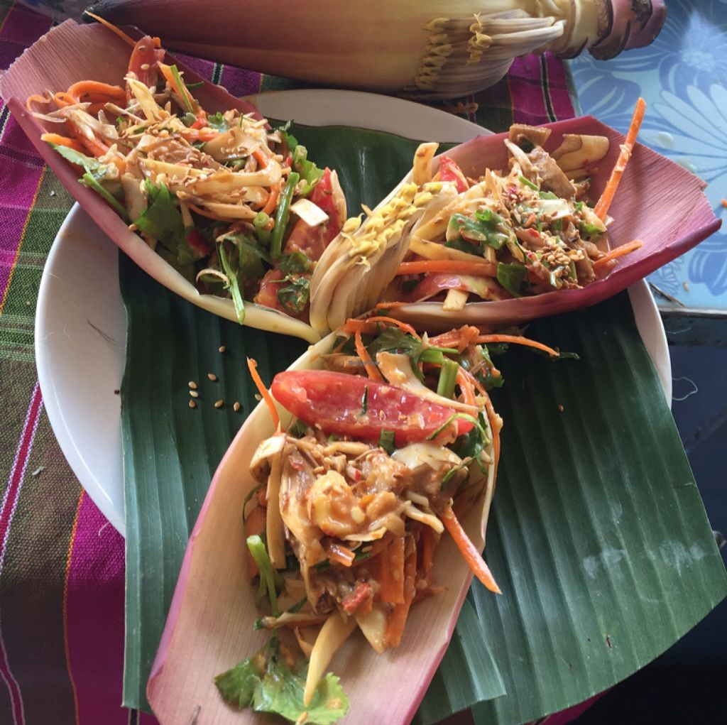 """Photo of On's Thai Isaan  by <a href=""""/members/profile/annamannamomanna"""">annamannamomanna</a> <br/>banana flower salad <br/> December 22, 2015  - <a href='/contact/abuse/image/33830/129440'>Report</a>"""