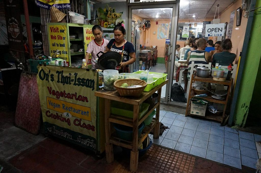 """Photo of On's Thai Isaan  by <a href=""""/members/profile/MMaree"""">MMaree</a> <br/>Master chef at work in her outside kitchen <br/> April 4, 2015  - <a href='/contact/abuse/image/33830/97850'>Report</a>"""