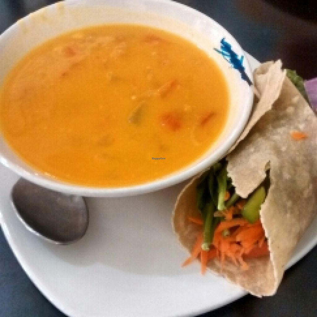 """Photo of Pete's Gluten Free Eatery and Espresso Bar  by <a href=""""/members/profile/QuothTheRaven"""">QuothTheRaven</a> <br/>vegan soup and wrap  <br/> April 22, 2016  - <a href='/contact/abuse/image/33857/145772'>Report</a>"""