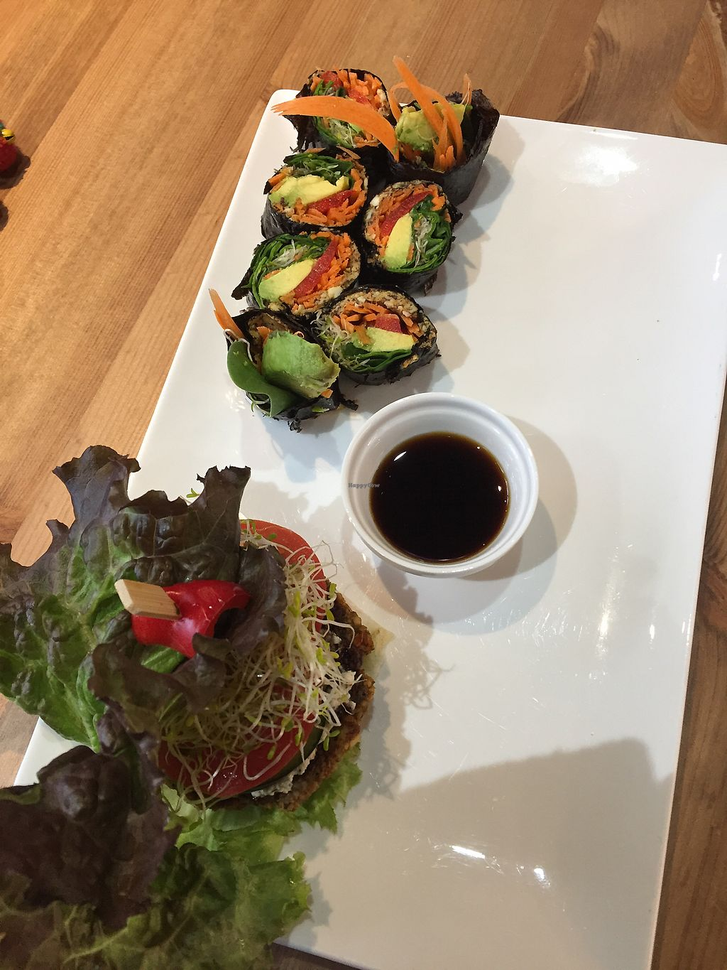 """Photo of Cafe by Tao  by <a href=""""/members/profile/Shxylah"""">Shxylah</a> <br/>Raw burger + nori rolls ❤️? <br/> April 4, 2018  - <a href='/contact/abuse/image/33858/380817'>Report</a>"""