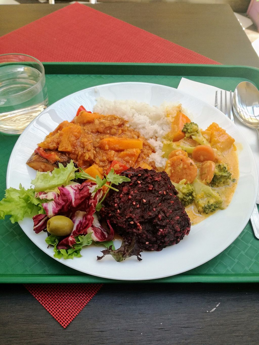 "Photo of Veggie  by <a href=""/members/profile/ZdeNka"">ZdeNka</a> <br/>daily menu - thai veggie curry, some sweet potato daal I think, beet patty, rice and fresh salad <br/> December 2, 2017  - <a href='/contact/abuse/image/33875/331465'>Report</a>"