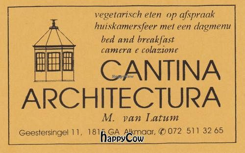 "Photo of CLOSED: Cantina Architectura  by <a href=""/members/profile/Gudrun"">Gudrun</a> <br/> August 18, 2012  - <a href='/contact/abuse/image/33898/36237'>Report</a>"