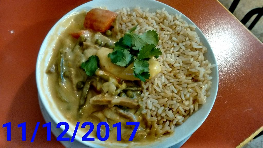 """Photo of Les Nourritures Terrestres  by <a href=""""/members/profile/Hummuuuuus"""">Hummuuuuus</a> <br/>Curry with seitan <br/> December 12, 2017  - <a href='/contact/abuse/image/33941/335062'>Report</a>"""