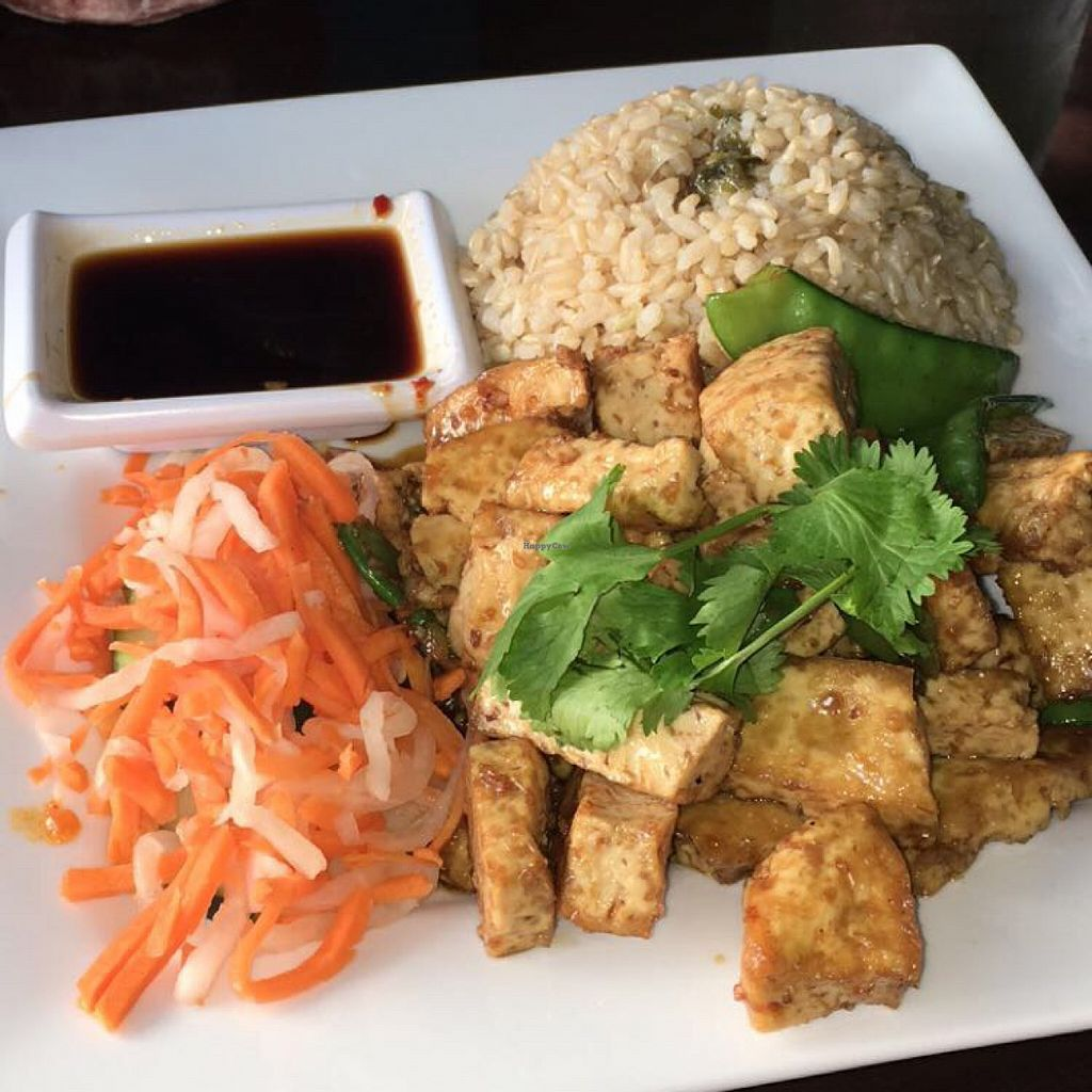 """Photo of Bamboozle Cafe  by <a href=""""/members/profile/zayyxo"""">zayyxo</a> <br/>lemongrass tofu with brown rice  <br/> October 30, 2015  - <a href='/contact/abuse/image/33972/123259'>Report</a>"""