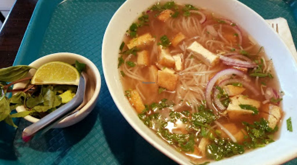"""Photo of Bamboozle Cafe  by <a href=""""/members/profile/Ljenner"""">Ljenner</a> <br/> vegan pho <br/> February 10, 2018  - <a href='/contact/abuse/image/33972/357581'>Report</a>"""