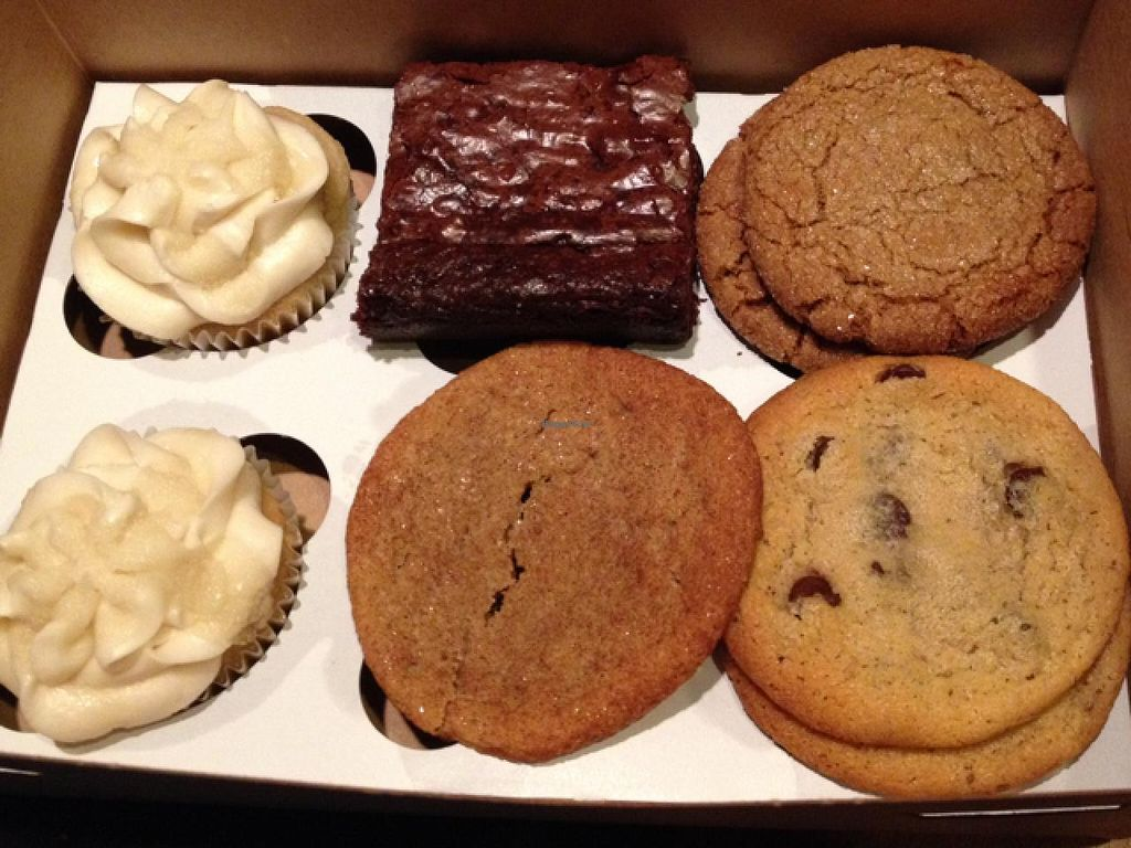 "Photo of Treehouse Bakery  by <a href=""/members/profile/Tigra220"">Tigra220</a> <br/>box of assorted goodies: salted caramel cupcakes, brownies, Snickerdoodle, Molasses, & chocolate chip cookies <br/> December 21, 2014  - <a href='/contact/abuse/image/33977/88442'>Report</a>"