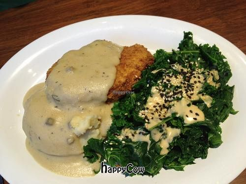 """Photo of Veggie Grill - South Lake Union  by <a href=""""/members/profile/Shell25328"""">Shell25328</a> <br/>Fried Chickn Plate <br/> September 7, 2012  - <a href='/contact/abuse/image/33990/37704'>Report</a>"""