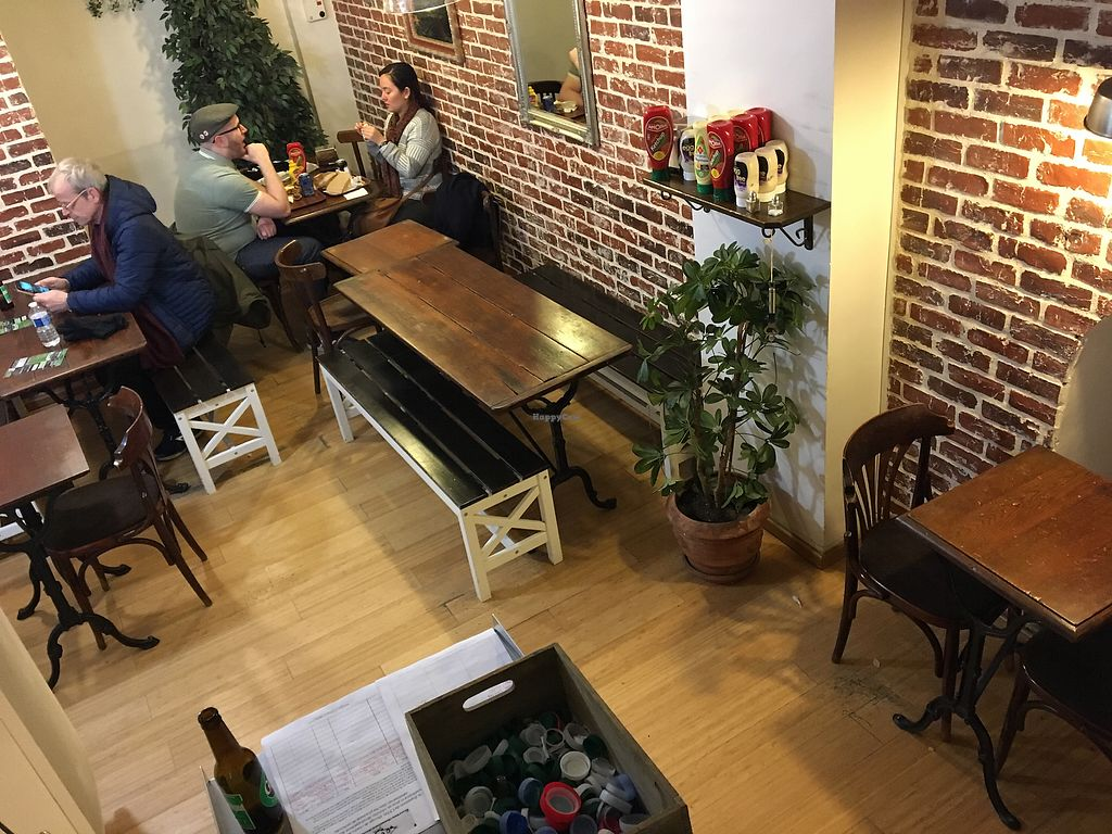 """Photo of East Side Burgers  by <a href=""""/members/profile/Marianne1967"""">Marianne1967</a> <br/>All seats downstairs (upstairs no seats) <br/> February 10, 2018  - <a href='/contact/abuse/image/34087/357451'>Report</a>"""