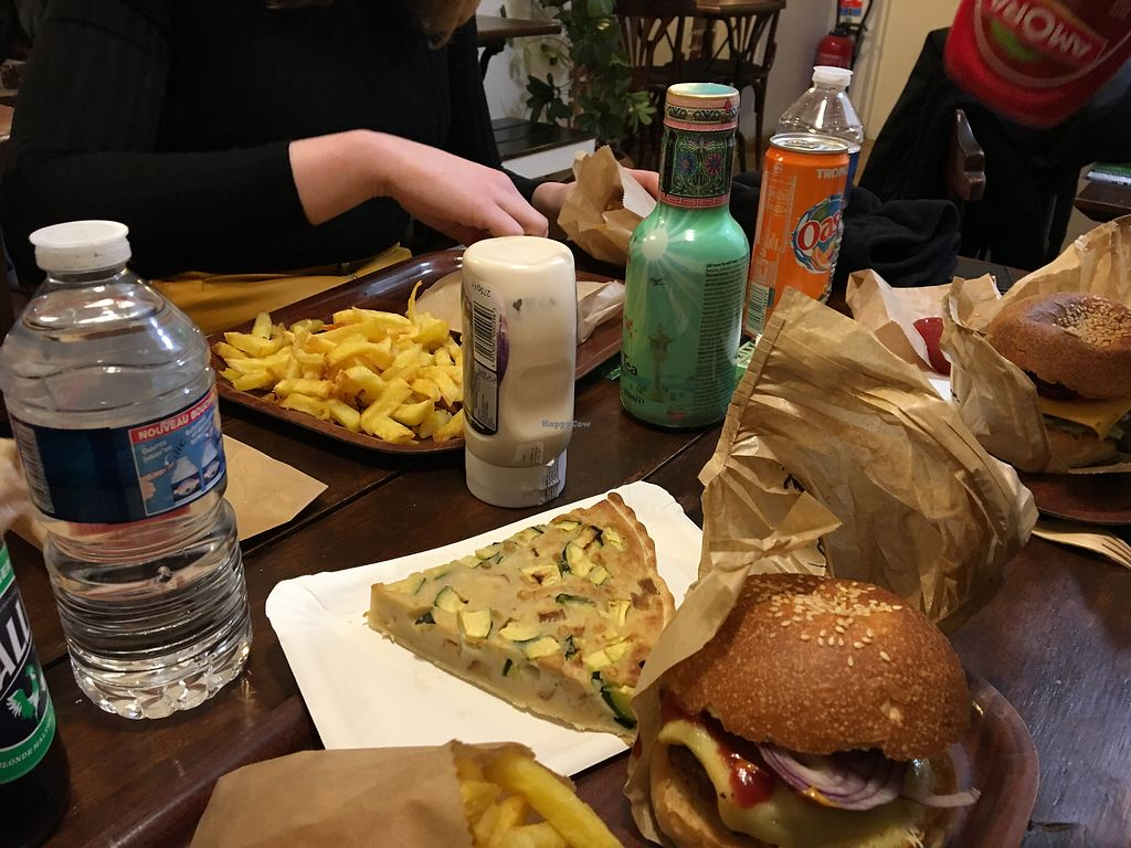 """Photo of East Side Burgers  by <a href=""""/members/profile/Marianne1967"""">Marianne1967</a> <br/>Vegan quiche  <br/> February 10, 2018  - <a href='/contact/abuse/image/34087/357452'>Report</a>"""