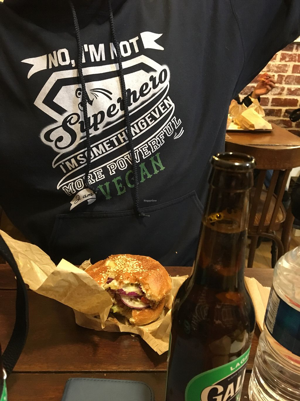 """Photo of East Side Burgers  by <a href=""""/members/profile/Marianne1967"""">Marianne1967</a> <br/>Mexican burger veganized  <br/> February 10, 2018  - <a href='/contact/abuse/image/34087/357453'>Report</a>"""