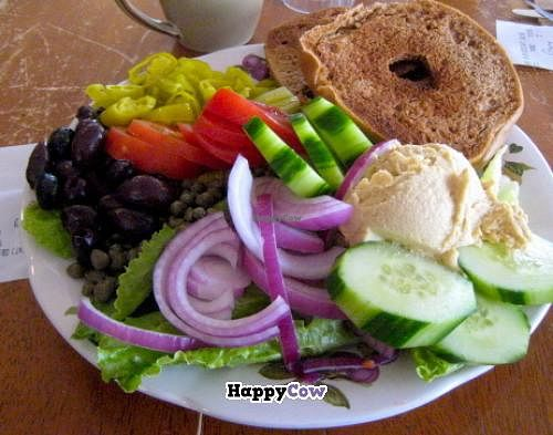 """Photo of Green Salmon Coffee and Tea House  by <a href=""""/members/profile/blisssu"""">blisssu</a> <br/>Breakfast bagel plate with veggies <br/> November 21, 2013  - <a href='/contact/abuse/image/34100/58818'>Report</a>"""