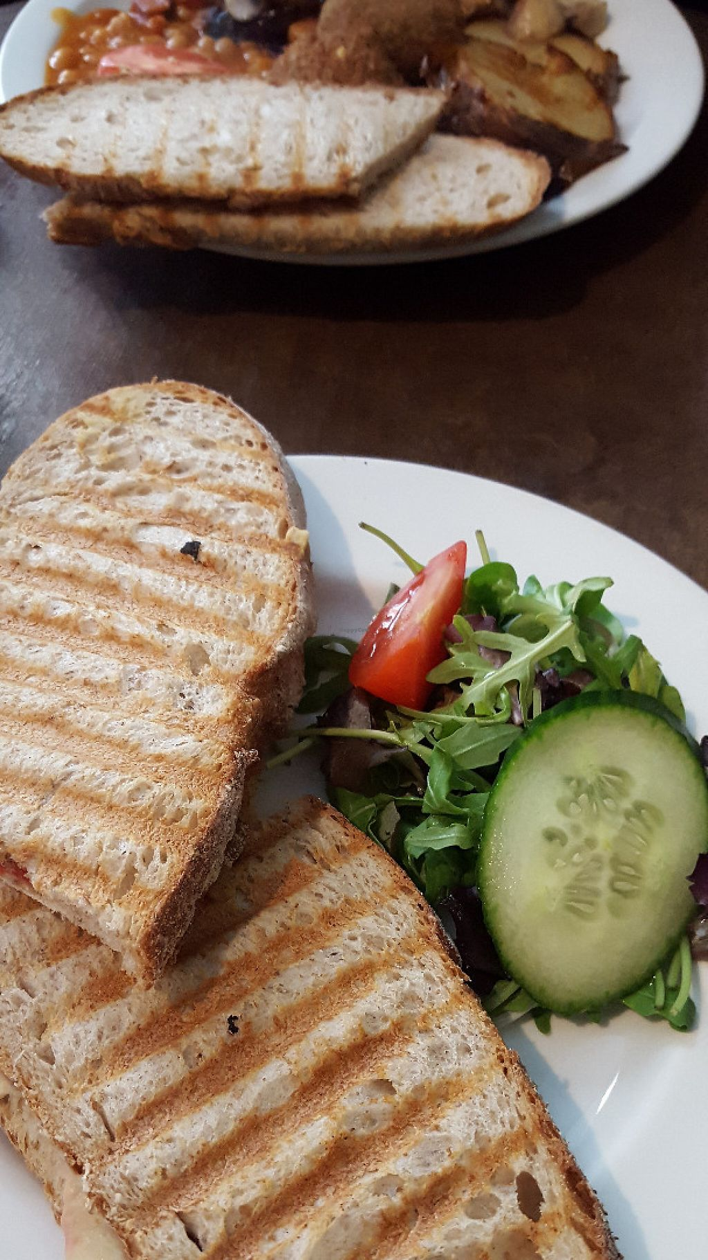 "Photo of Organic Deli Cafe  by <a href=""/members/profile/VeganAnnaS"">VeganAnnaS</a> <br/>Toasted sandwich (falafel and hummus) <br/> May 21, 2017  - <a href='/contact/abuse/image/34102/261107'>Report</a>"